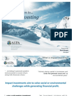 Impact Investing Intro March 2011