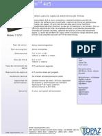 +MANUAL DE ESPECIFICACIONES PAD DE FIRMAS ELECTRONICA SIGNTUREGEM 4X5 TS751 TOPAZ.. ID SMART TECH
