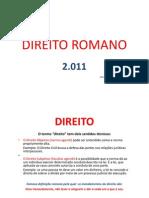 DIREITO ROMANO - MAIO - 2011