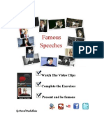 20 Famous Speeches coursebook