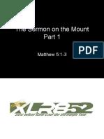 The Sermon on the Mount Part 1