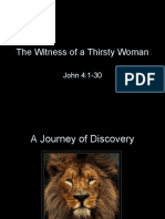 The Witness of a Thirsty Woman