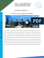 Synthèse du 3ème Sommet des dirigeants du BRICS