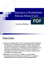 Metoda Monte Carlo Acul Lui Buffon