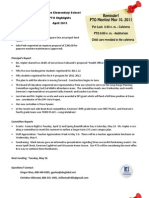 May 2011 PTO Meeting Notice & April Highlights