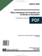 Effect of Biodiesel Fuel Properties Atomization 2006