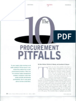 The 10 Procurement Pitfalls