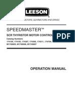 Leeson Manual Speed Master Scrthyristor