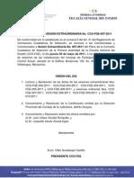 Convocatoria CCS-FISCALIA Sesión extraordinaria No. 007 05-05-11