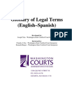 Glossary of Legal Terms - English-Spanish
