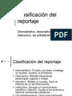 Clasificación del reportaje (parte 1)