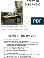 Issues in Supervision