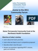 KPCF 2011 Forum