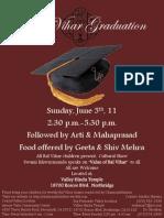 Bal Vihar Graduation Flyer -- 6-5-11