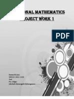 Contoh Folio Addmath 2010 (Project Work 1)