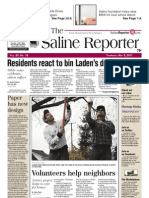 Saline Reporter Front Page