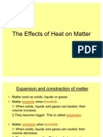The Effects of Heat on Matter