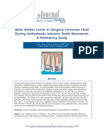 Bone Marker Levels in Gingival Crevicular Fluid