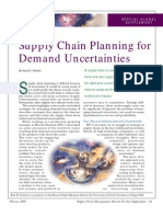 Supply Chain Planning for Demand Uncertainties