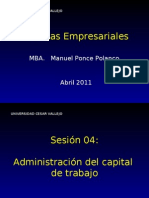 4 Sesion 04 - Admin is Trac Ion Del Capital de Trabajo