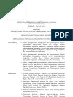 Peraturan Kepala BPN RI No. 3 Tahun 2011