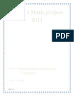 Form 4 Math Project 2011