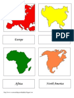 Continents - 3-Part Cards PART I