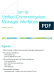 Cisco Unified Communications Manager Interface Introduction