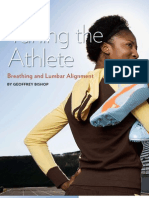 Article_Bishop_tuning the Athlete_breathing and Lumbar Alignment