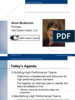 Building Maintaining High Performing Teams