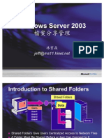 080206 Windows Server 2003 Introduction to Shared Folder