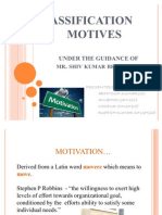 Classification of Motives