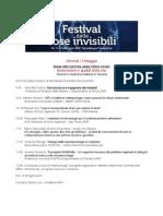 Programma Festival Cose Invisibili