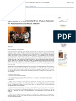 Thailand-Open Letter to Prime Minister from Women Network for Advancement and Peace (WNAP)