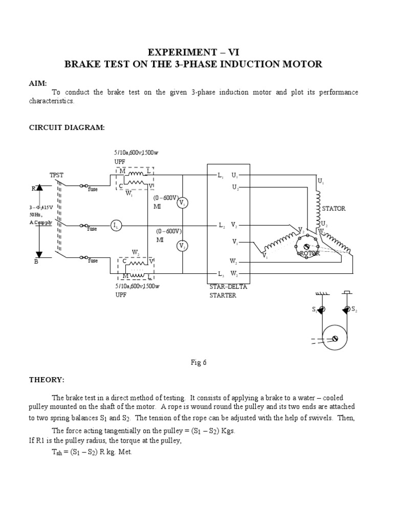 Load test on 3 phase induction motor circuit diagram for Three phase induction motor pdf