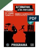 I Foro Social Mundial de Madrid Temático - Alternativas a los mercados