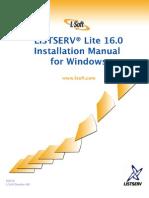 LISTSERV16.0_InstallManual_WindowsLite
