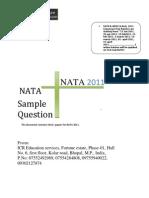Nata Sample Paper