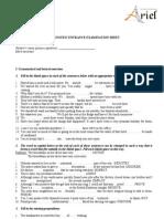 Placement Test - Entrance Exam