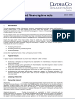 Aircraft Leasing and Financing Into India
