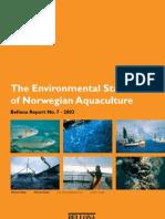 The Environmental Status of Norwegian Aquaculture