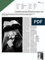 Exposição em Coimbra mostra Einstein entre nós