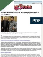 Military Uses Psy-Ops Team to Manipulate US Senators