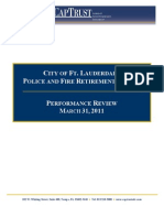 Fort Lauderdale Police and Fire Pension 1st Quarter 2011 Investment Review