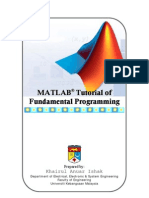 MATLAB Tutorial of Fundamental Programming