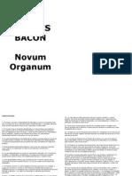 Bacon Francis - Novum Organum (en Caste Llano)