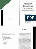 Monetary Economics Theory and Policy MCCALLUM 1989)
