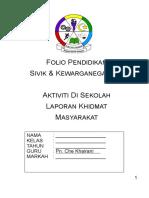 Folio PSK Aktiviti Di Sekolah Laporan Khidmat Masyarakat - ForM 2 V2
