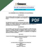 Ley de Extradicion Guatemala