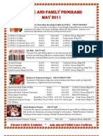 May 2011 Calendar of Events